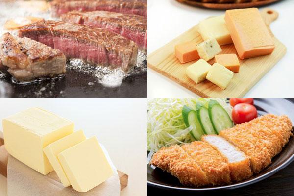 脂質(飽和脂肪酸)を含む食べ物