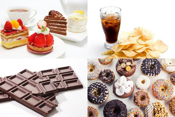 糖質を含む甘い食べ物