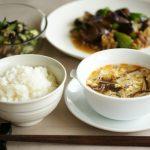 中性脂肪を下げる献立(5月No.1の1日目)暑い季節を乗り切る豚肉と夏野菜の献立