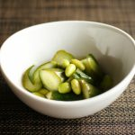 胡瓜と枝豆の即席ピクルス