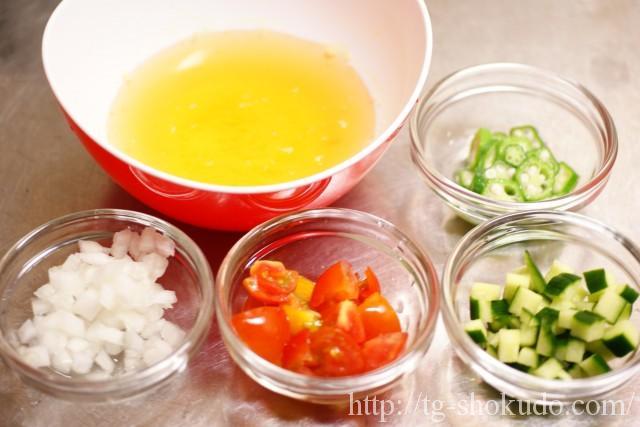 刻み野菜の冷製スープの作り方の手順1の画像