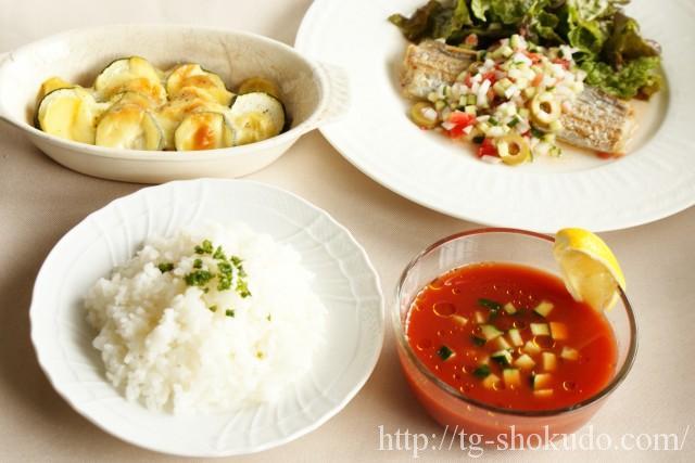 中性脂肪を下げる献立(夏 No.2の7日目)太刀魚と夏野菜を使った洋風献立