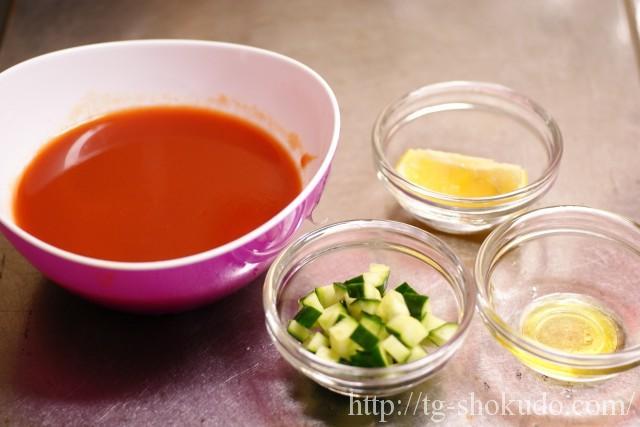 きゅうりのトマトジューススープの作り方の手順2の画像