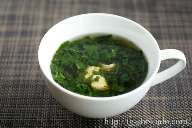 モロヘイヤとささみのスープ