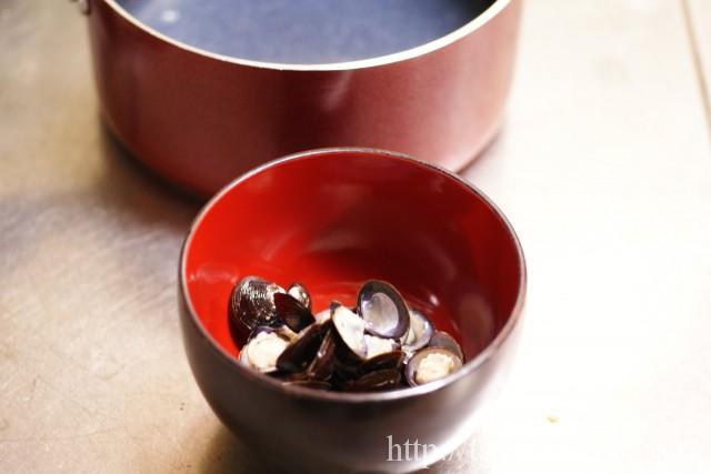 しじみの味噌汁の作り方の手順2の画像