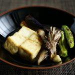 豆腐と夏野菜の焼き浸し