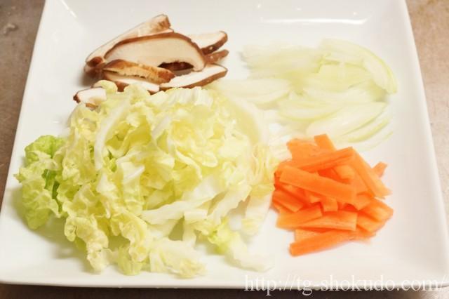 カレイと野菜の中華煮の作り方の手順1の画像