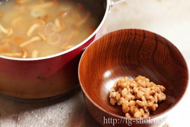なめこの納豆汁の作り方の手順2の画像