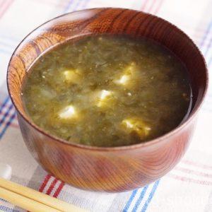 あおさと豆腐の味噌汁