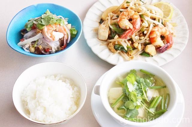 中性脂肪を下げる1週間の献立例【春No.1の5日目】日本人の口にも合う!食物繊維たっぷりのタイ料理の献立