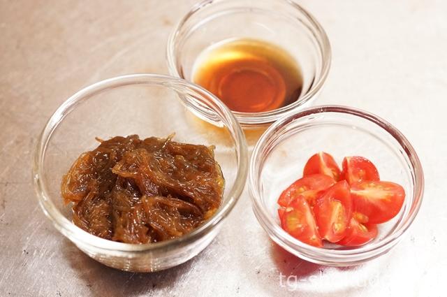 ミニトマト入りもずく酢の作り方の手順1の画像