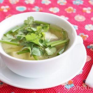 タイ風豆腐のすまし汁