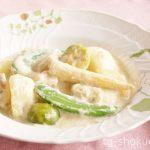 春野菜とチキンの豆乳クリーム煮