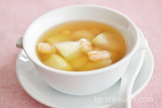 えびと冬瓜のスープ