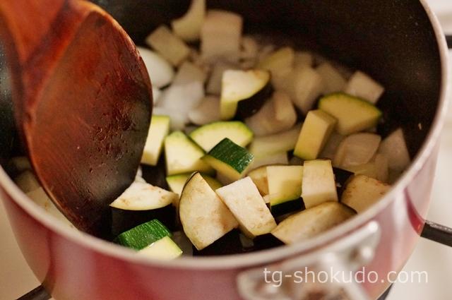 夏野菜の冷製ミネストローネの作り方の手順2の画像