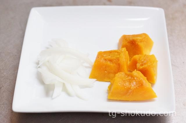 かぼちゃの冷製スープの作り方の手順1の画像