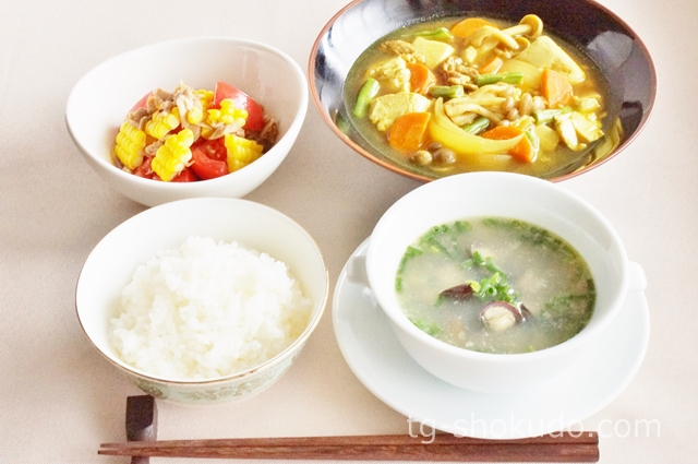 中性脂肪を下げる1週間の献立例【夏~秋No.2】豆腐と夏の食材を組み合わせた献立