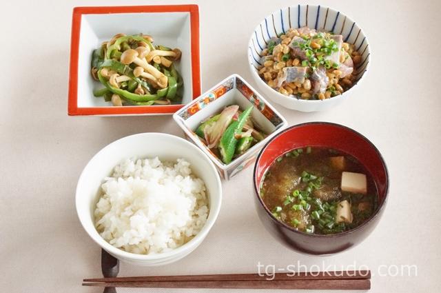 中性脂肪を下げる1週間の献立例【夏~秋No.2】簡単調理で食物繊維がしっかり摂れる魚と大豆の献立