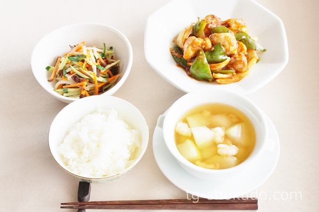中性脂肪を下げる1週間の献立例【夏~秋No.2】低カロリーな夏野菜でボリュームUPの中華献立