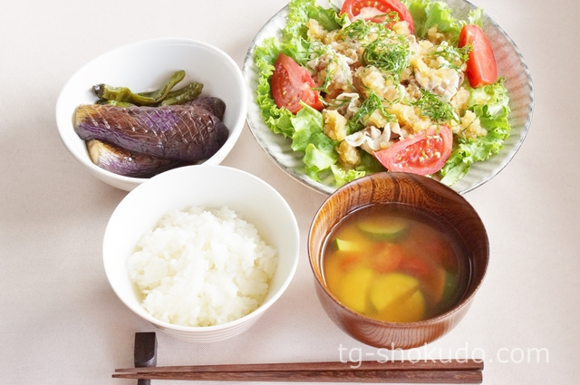 中性脂肪を下げる1週間の献立例【夏~秋No.2】すべてノンオイル料理でヘルシーな肉料理献立