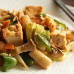 厚揚げと野菜のピリ辛味噌炒め