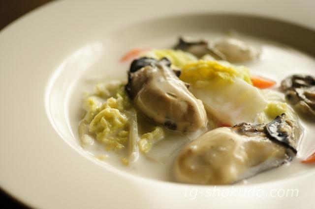 牡蠣と白菜のミルク煮