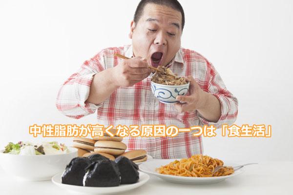 中性脂肪を高める原因の一つは食生活
