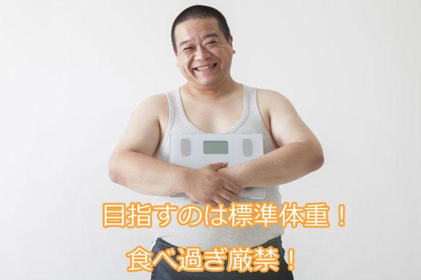 目指すのは標準体重。食べ過ぎ厳禁!