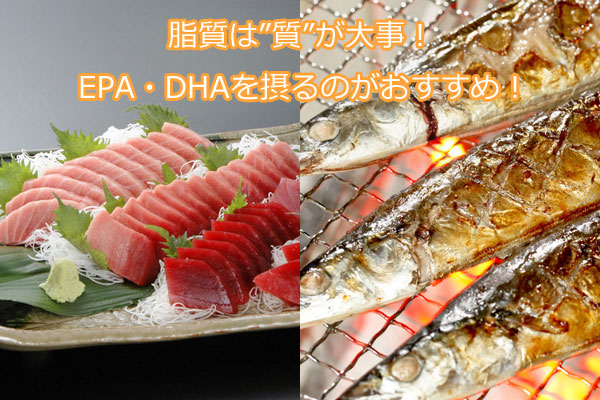 脂質は質が大事!EPA・DHAを摂るのがおすすめ!